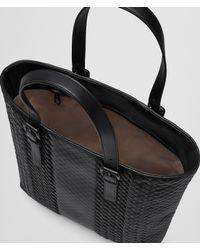 Bottega Veneta - Black Nero Intrecciato Imperatore Calf Aquatre Bag - Lyst