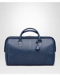 444b2b0ad20b Bottega Veneta. Women s Blue Medium Duffle Bag In Pacific Intrecciato Vn