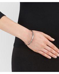 Bottega Veneta - Metallic Bracelet In Intrecciato Silver - Lyst