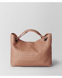 Bottega Veneta - Brown Dahlia Intrecciato Nappa Shoulder Bag - Lyst