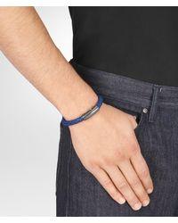 Bottega Veneta Cobalt Blue Intrecciato Nappa Bracelet for men