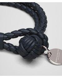 Bottega Veneta Green Bracelet In Tourmaline Intrecciato Nappa