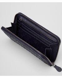 Bottega Veneta Black Zip Around Wallet