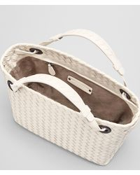 Bottega Veneta - Natural Mist Intrecciato Nappa Shoulder Bag - Lyst