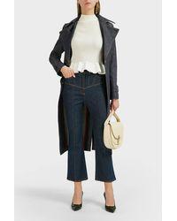 Victoria Beckham Multicolor Belted Denim Trench Coat