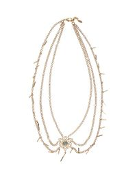 Isharya | Metallic Fligree Necklace | Lyst