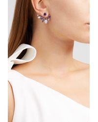 Fernando Jorge | Multicolor Calyx Lilac-coated 18-karat Gold Diamond, Amethyst And Chalcedony Earrings | Lyst