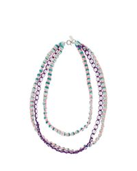 Missoni - Blue Triple Beaded Necklace - Lyst