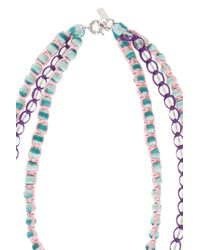 Missoni - Blue Triple Beaded Necklace - Lyst