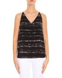 Vince - Black Striped Camisole - Lyst