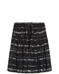 Vince - Black Striped Skirt - Lyst