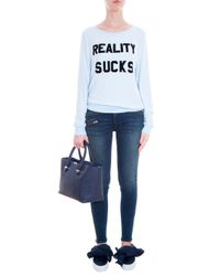 Wildfox - Blue Reality Sucks Sweater - Lyst