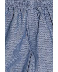 Sunspel - Blue Woven Boxer Shorts for Men - Lyst