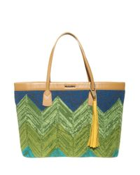 Missoni - Blue Wool Tote Bag - Lyst