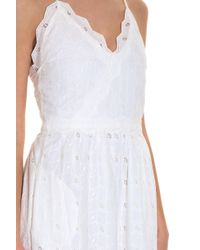 Paul & Joe - White Broderie Dress - Lyst