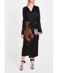 Attico - Black Gabriella Lobster Robe Dress - Lyst