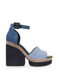 Pierre Hardy - Blue Charlotte Platform Sandals - Lyst