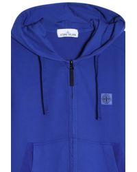 Stone Island - Blue Garment Dyed Hoodie for Men - Lyst