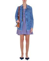 Victoria Beckham - Blue Mini Leather Shoulder Bag - Lyst