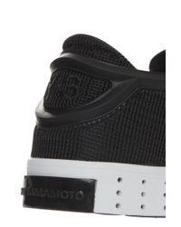 Y-3 - Black Logo Embossed Sneakers for Men - Lyst