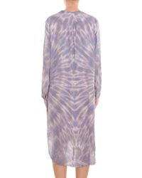 Raquel Allegra - Gray Tie Dye Silk Shirt Dress - Lyst