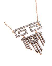 Maha Lozi - Metallic Aztek Necklace 0.2 - Lyst