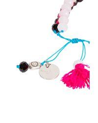 Paul & Joe - White Diamond Bead Bracelet - Lyst