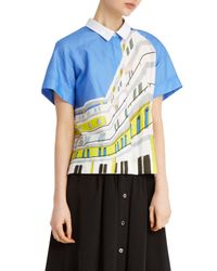 Paul & Joe - Blue Swimmer Shirt - Lyst