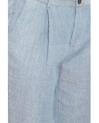 Paul & Joe - Blue Striped Trousers - Lyst