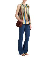 Missoni - Blue Multi Stripe Top - Lyst