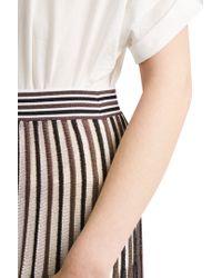 Missoni - Brown Multi Stripe Skirt - Lyst