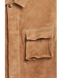 Missoni - Brown Suede Field Jacket for Men - Lyst