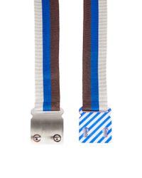 Missoni - Blue Elasticated Stripe Belt - Lyst