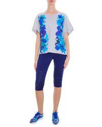 Adidas By Stella McCartney - Blue Cropped Run Leggings - Lyst