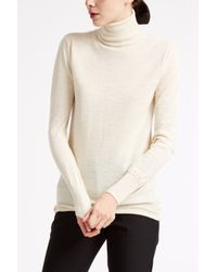 M.i.h Jeans - White Slim Polo Neck Jumper - Lyst