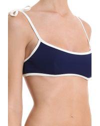 Solid & Striped - Blue Poppy Bikini Bottom - Lyst