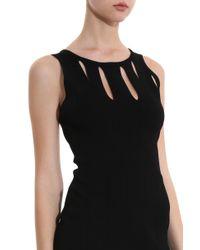 Cushnie et Ochs - Black Fringed Knit Dress - Lyst