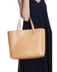 Mansur Gavriel - Natural Large Leather Tote Bag - Lyst