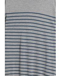 John Smedley - Gray Striped Pullover for Men - Lyst