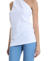 Cushnie et Ochs - White Single Shoulder Top - Lyst