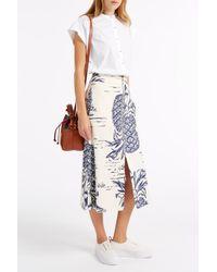 M.i.h Jeans - White Push Cap Sleeve Shirt - Lyst