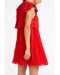 Giamba - Red Studded Collar Dress - Lyst