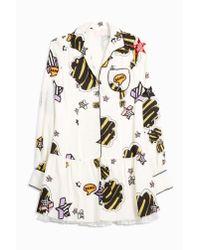 Giamba - Multicolor Printed Pyjama Shirt Dress - Lyst