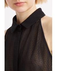 Marco De Vincenzo - Black Cutaway Shirt - Lyst
