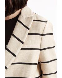 MSGM - Natural Stripe Coat - Lyst