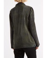 Raquel Allegra - Green Stripe Silk Tie Jacket - Lyst