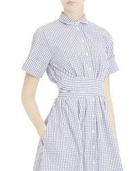 Lisa Marie Fernandez - Multicolor Check Shirt Dress - Lyst