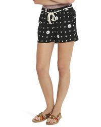Splendid - Black Cotton Shorts - Lyst