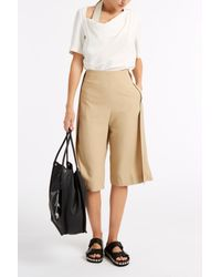 Acne Studios - Natural Caryn Crepe Culottes - Lyst