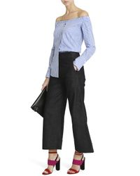Victoria, Victoria Beckham - Blue Wide Cropped Jeans - Lyst